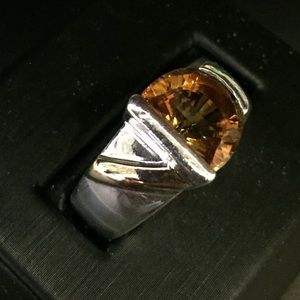 Jewelry - Sterling Silver/14k citrine ring